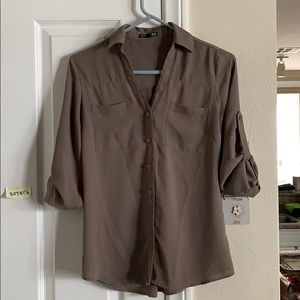Xs express mauve button down blouse